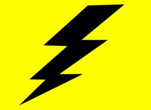 Lightening clipart yellow Art Black Clker clip com