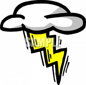 Clouds clipart lightning bolt Yellow Yellow In Image Cloud