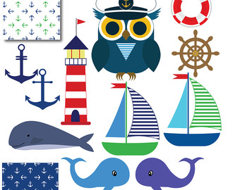 Sailor clipart lighthouse Art Whale Nautical Clip clip