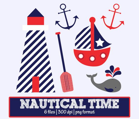Sailboat clipart nautical baby shower Nautical Art Clipart Nautical images
