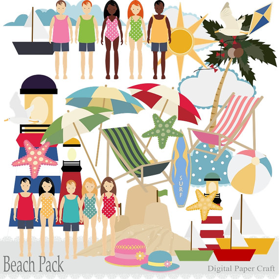 Lighthouse clipart beach swimming Beach on chairs with much