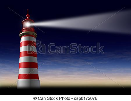Lighthouse clipart beacon The direction concept of from