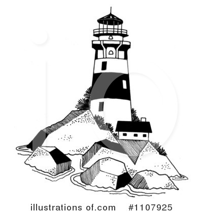 Lighhouse clipart black and white Clipart White Lighthouse  And
