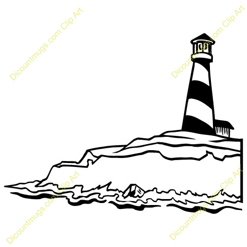 Lighhouse clipart black and white  And Clipart Black clipart