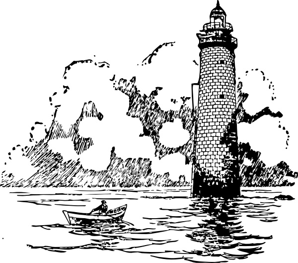 Lighhouse clipart boat  Free Boat Small Lighthouse