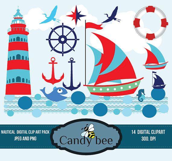 Sailing Boat clipart nautical theme Lighthouse Boat Clip images arts