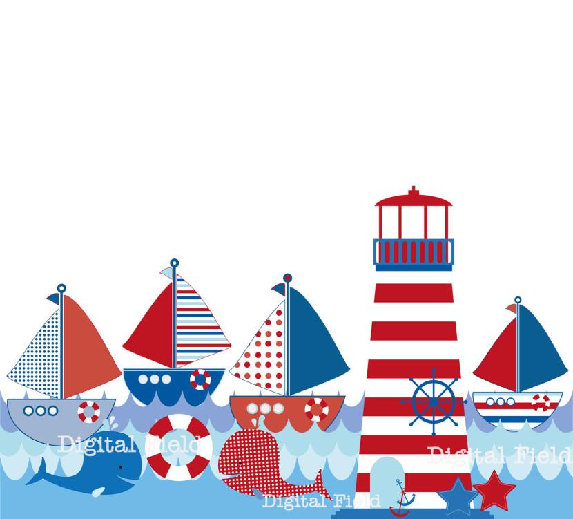 Lighhouse clipart navy blue #8