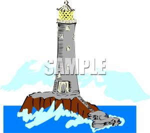 Lighhouse clipart cliff Cliff the In Clipart Ocean