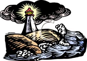 Lighthouse clipart cliff Rocky on Clipart Image A