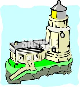 Lighthouse clipart cliff A A Image: Clipart Lighthouse