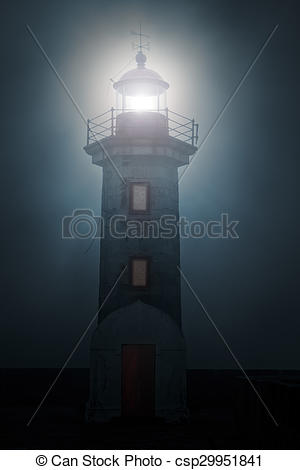 Lighhouse clipart foggy Night Photo night Lighthouse a