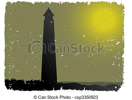 Lighhouse clipart foggy By Vectors by Grunge Night