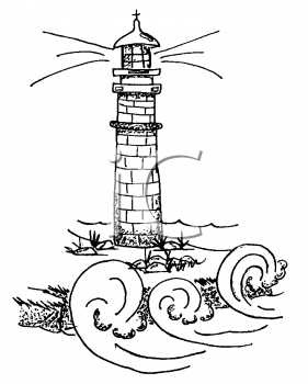 Lighthouse clipart line drawing About Art Wiring Clip Find