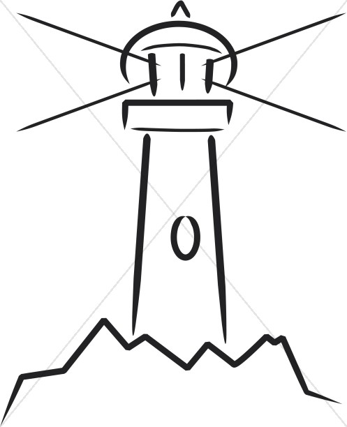 Lighthouse clipart line drawing At Clip Symbols Nighttime Lighthouse