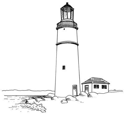 Lighthouse clipart line drawing Ideas Lighthouses on Steps Lighthouse