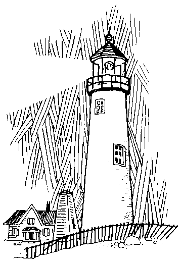 Lighthouse clipart line drawing Free Nautical  Clipart Lighthouse