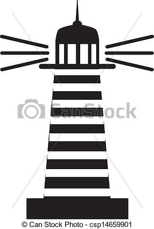 Lighthouse clipart line drawing Vector Lighthouse  csp14659901 %u041C%u0430%u044F%u043A