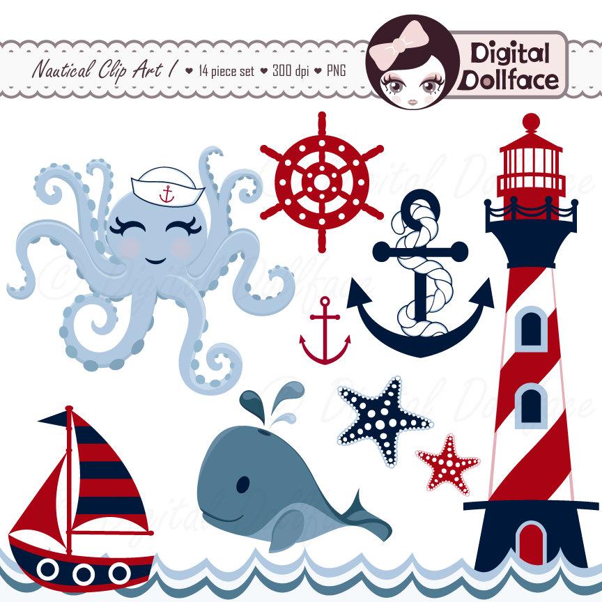 Sailor clipart lighthouse Summer Octopus Nautical Summer Clipart