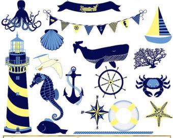 Lighhouse clipart navy blue #5