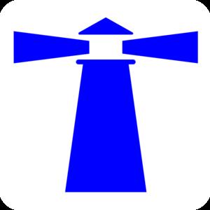 Lighhouse clipart navy blue #3