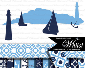 Lighhouse clipart navy blue #7
