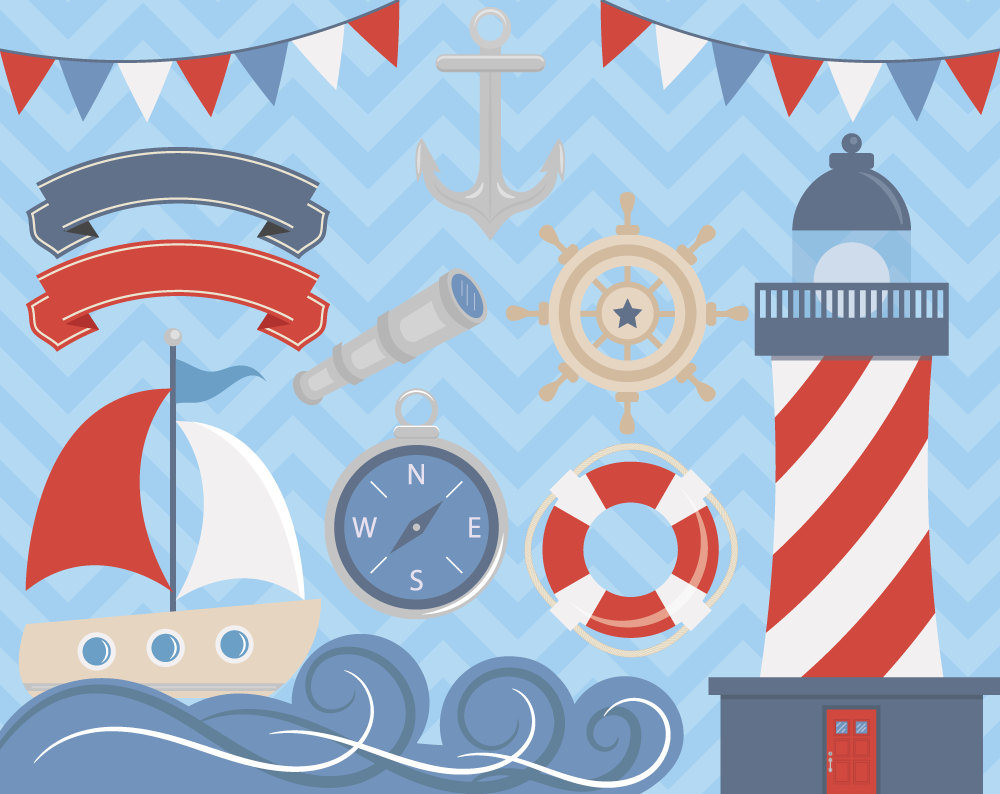Weaves clipart blue boat #1