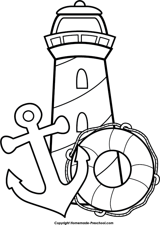 Lighthouse clipart outline Collection Free Clipart art lighthouse