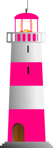 Lighthouse clipart pink As: White And  com