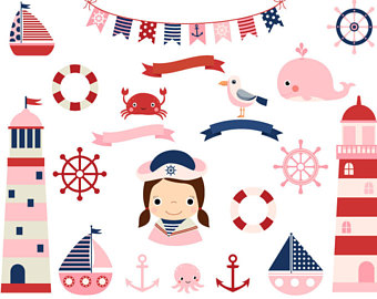 Lighthouse clipart pink Clipart Etsy Pink clip nautical