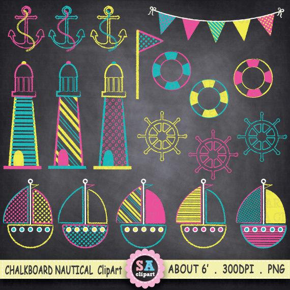 Lighthouse clipart pink Anchor wheel Sailing Ocean Chalkboard