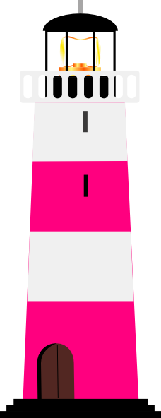Lighthouse clipart pink Lighthouse clip at com Art