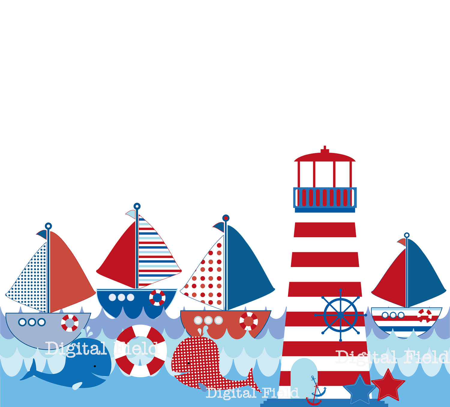 Lighthouse clipart red and blue Download baby vector house Light