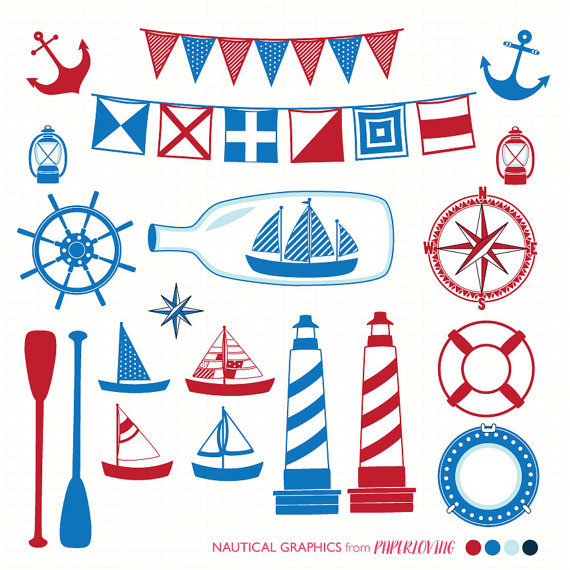 Lighthouse clipart red and blue COMMERCIAL use Red (png