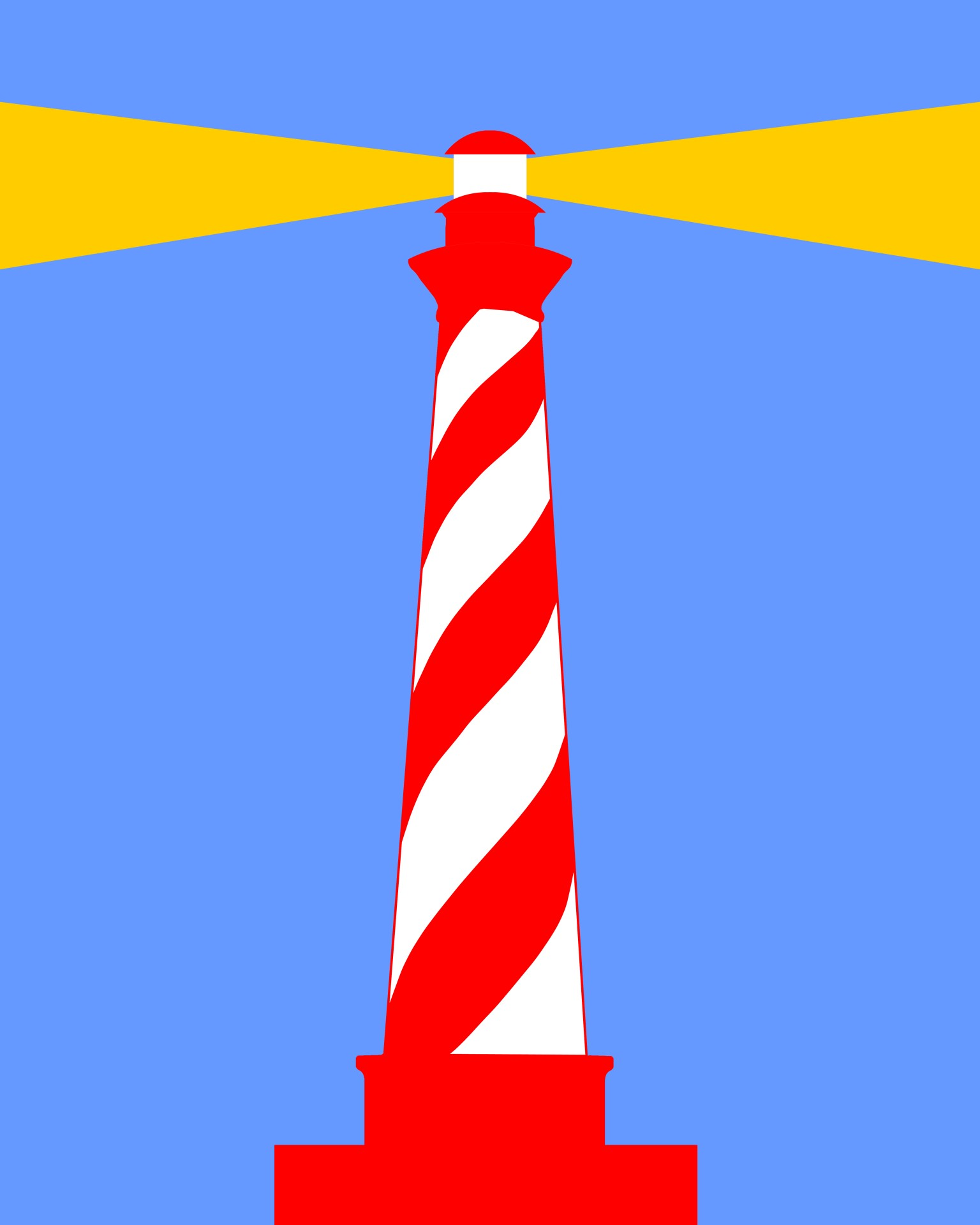 Lighthouse clipart red and blue Public Lighthouse striped striped Red