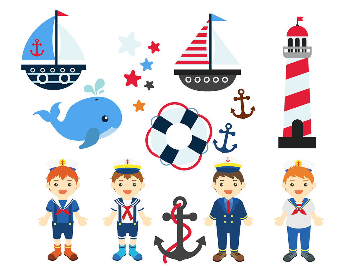 Lighhouse clipart boat Sailboat Instant Images Clipart NAUTICAL