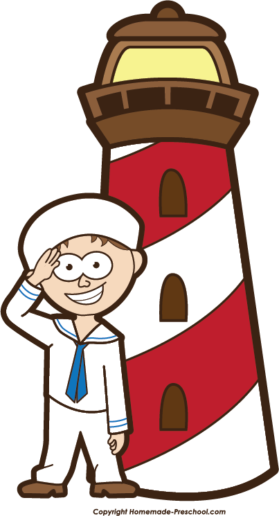 Lighthouse clipart sailor Lighthouse Image Click Clipart to