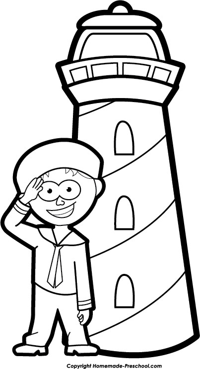 Lighthouse clipart sailor Free Image Save to Click