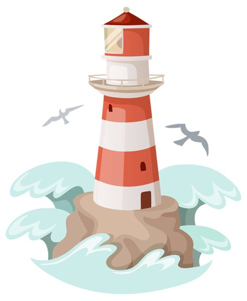 Lighthouse clipart seaside Best Image Clipart images Pinterest