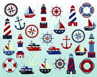 Cruise clipart ship wheel Compass Anchor Sailboat Wheel Nautical