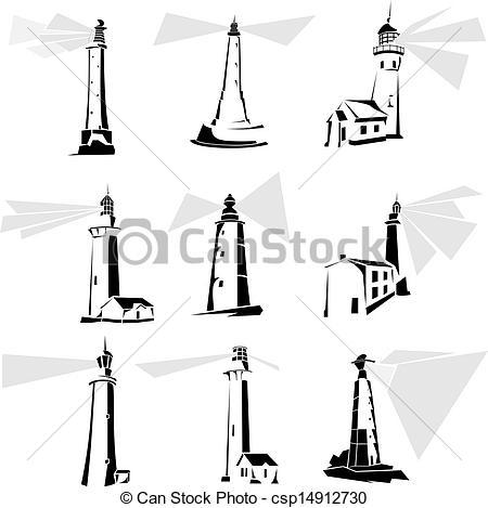 Lighthouse clipart simple Csp14912730 simple black black Vectors