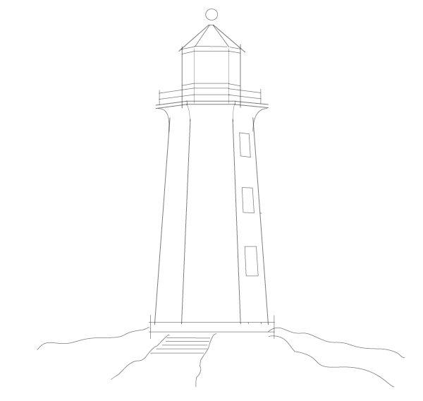 Lighthouse clipart simple Drawings Simple Free Free Art