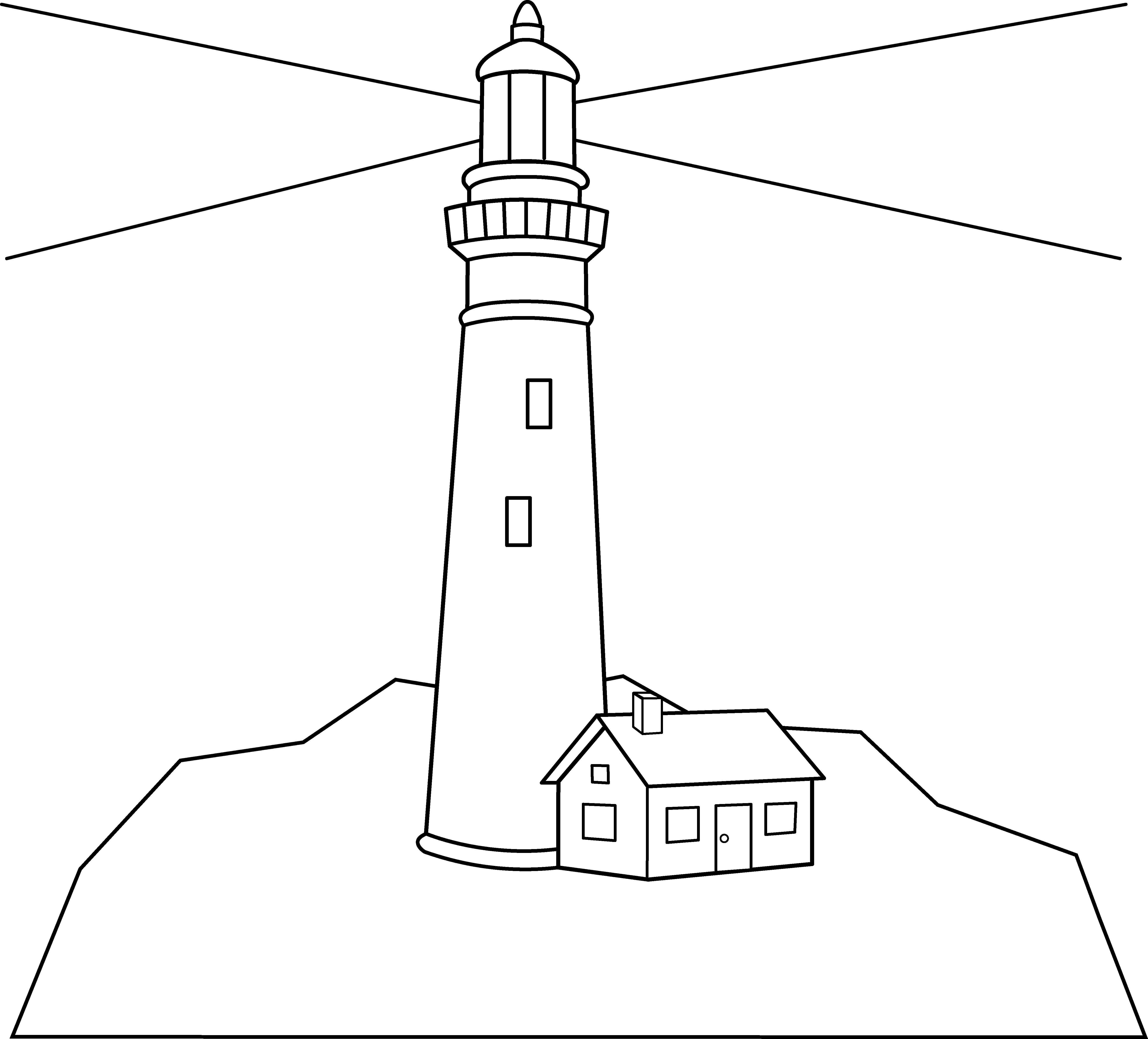 Lighthouse clipart simple Outline Lighthouse Outline Outline Drawing