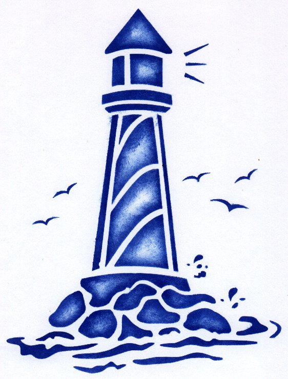 Lighthouse clipart simple Lighthouse re stencil  Lighthouse
