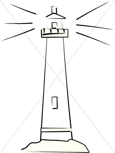 Lighthouse clipart simple Clipart the Christian Images Lighthouse