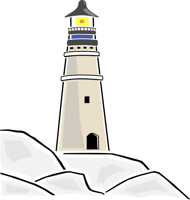 Lighthouse clipart simple To of book clip you