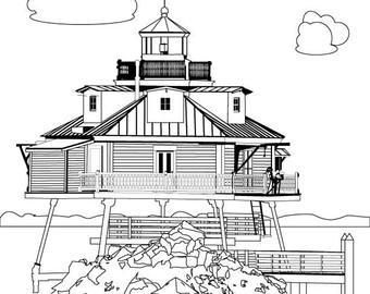 Lighthouse point Stress Instant Coloring