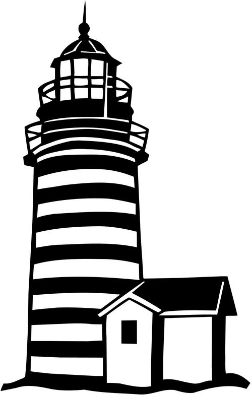 Lighhouse clipart black and white Clip printable clip Lighthouse free