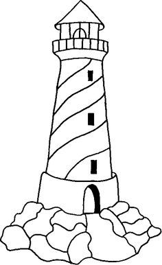 Eiland clipart coloring page Search Lighthouse on walls books