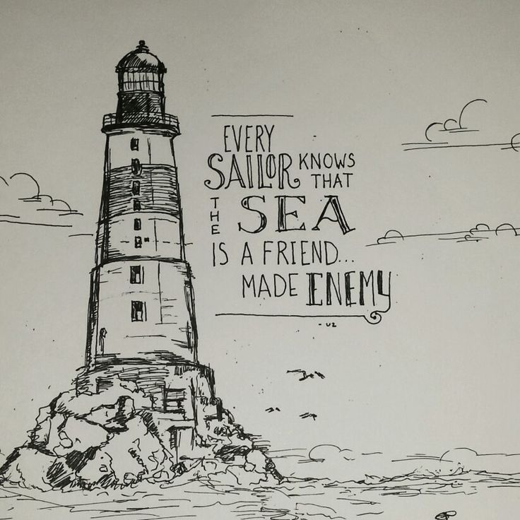 Lighhouse clipart wave drawing #8