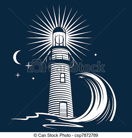 Lighhouse clipart wave drawing #1